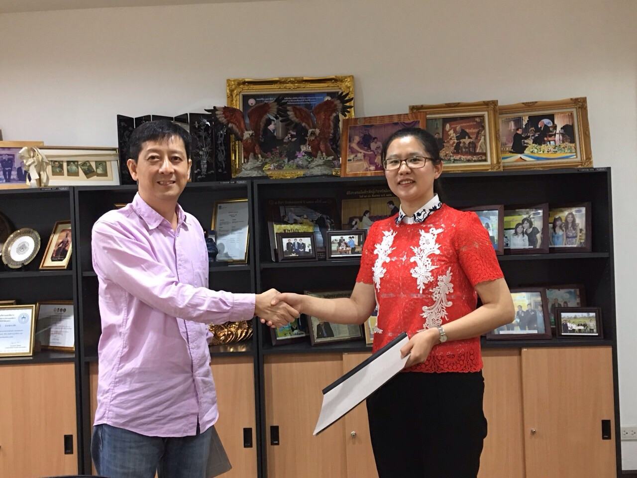 sign contract with our partner in China